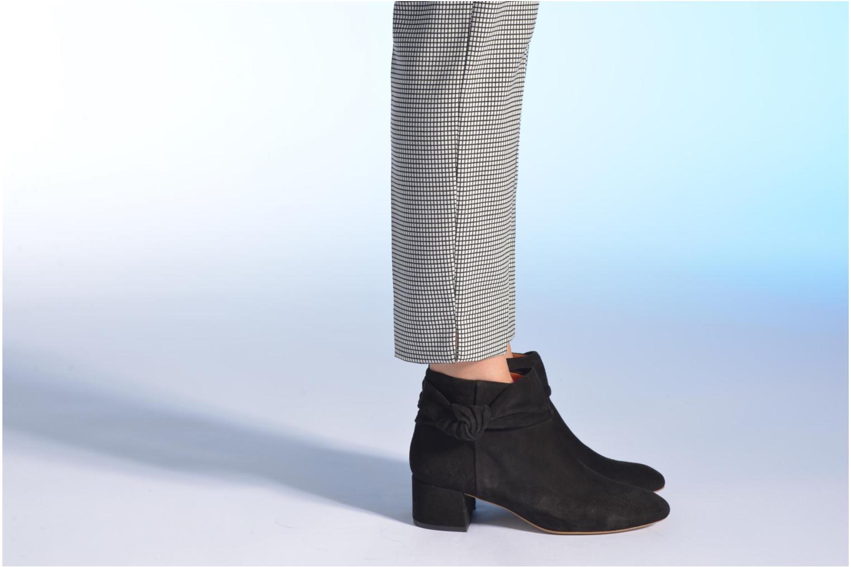 Bottines et boots Made by SARENZA Chantilly Chérie #6 Noir vue bas / vue portée sac