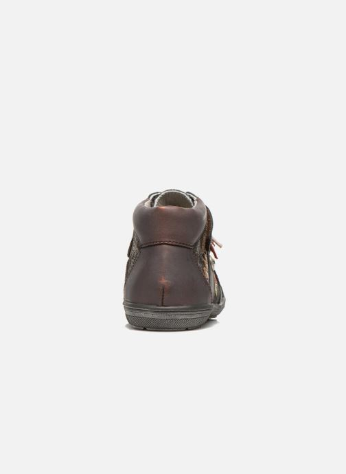 Velcro shoes Catimini Calamar Bronze and Gold view from the right