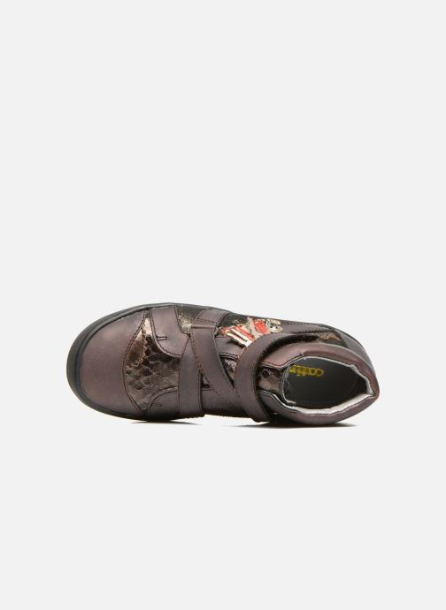 Velcro shoes Catimini Calamar Bronze and Gold view from the left