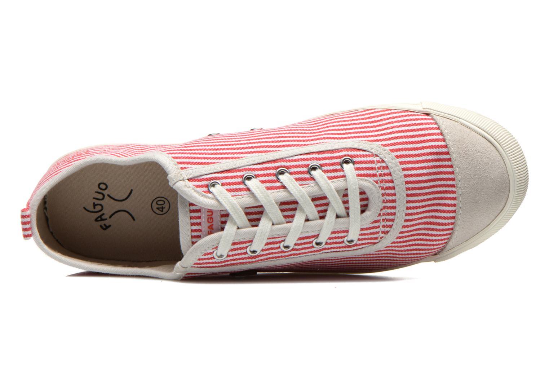 Baskets Faguo Oak Suede M Rouge vue gauche