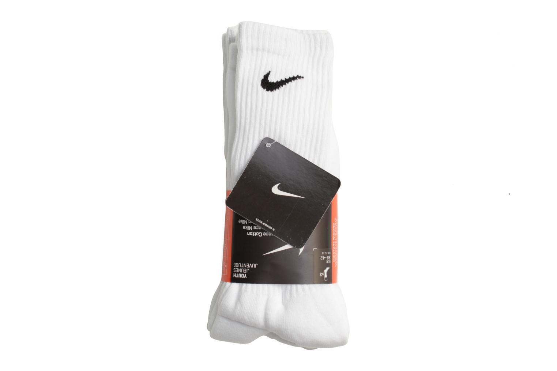 Chaussettes et collants Nike Chaussettes de sport 3P Yth Ctn Cush Crew W/ Moist Blanc vue face