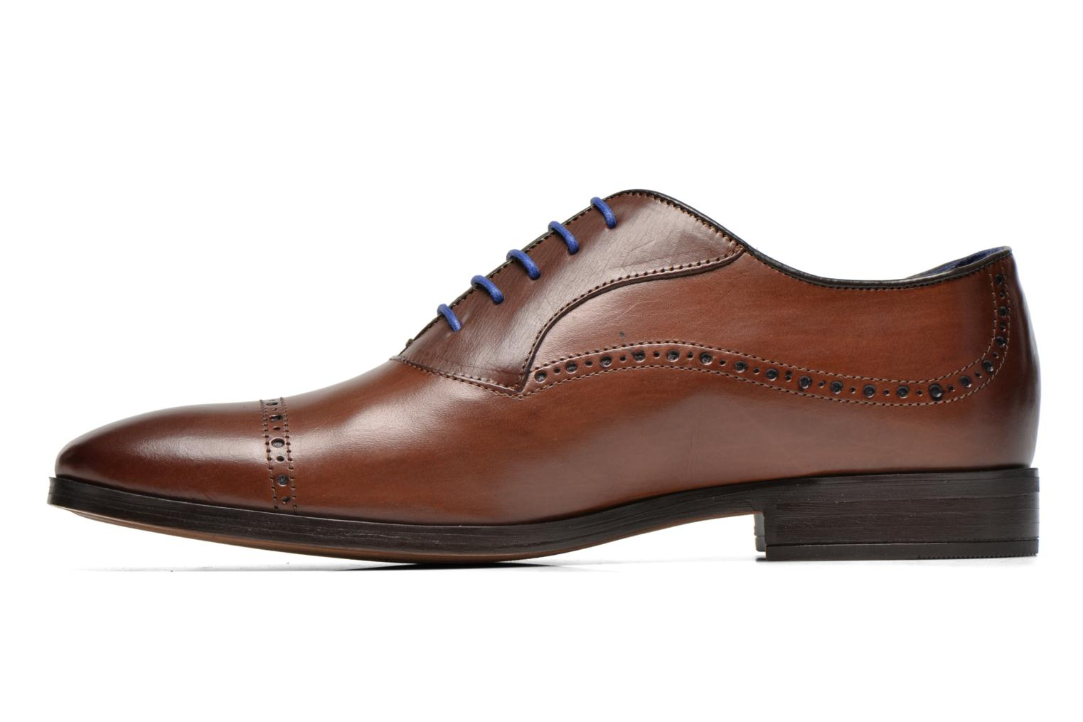 Lace-up shoes Azzaro Depech Brown front view