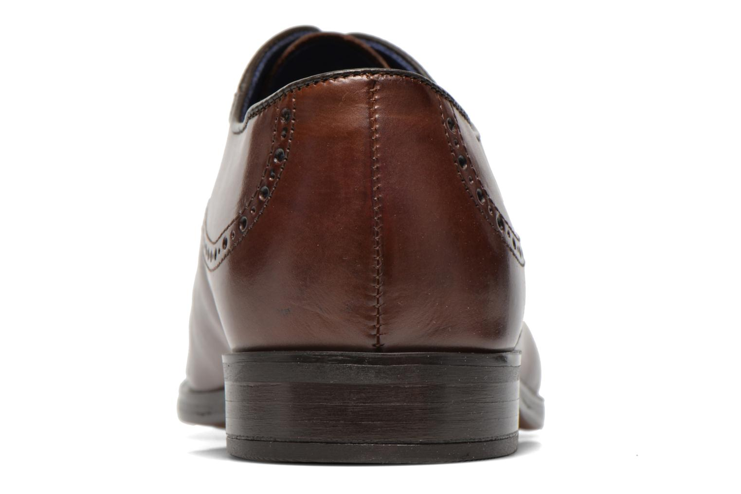 Lace-up shoes Azzaro Depech Brown view from the right