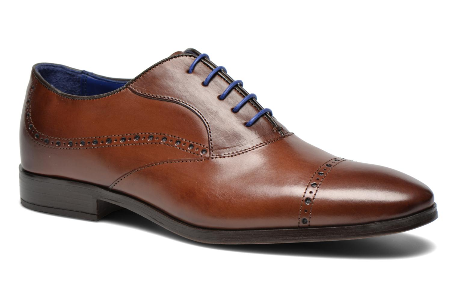 Lace-up shoes Azzaro Depech Brown detailed view/ Pair view