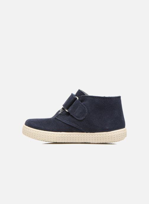 Chaussures à scratch Victoria Safari Serraje Velcro Bleu vue face