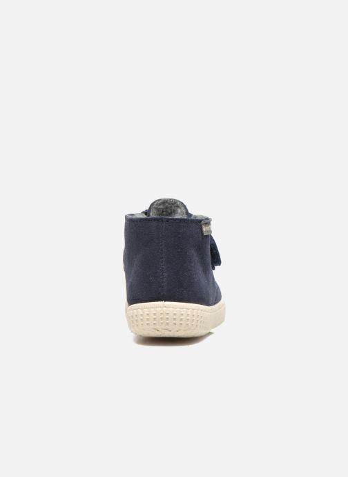Chaussures à scratch Victoria Safari Serraje Velcro Bleu vue droite