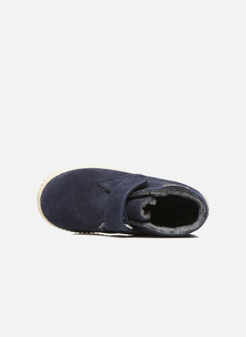 mit Klettverschluss Victoria Safari Serraje Velcro blau ansicht von links