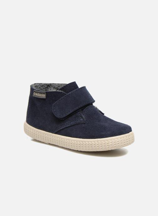 Schoenen met klitteband Victoria Safari Serraje Velcro Blauw detail