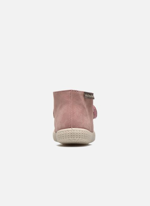 Velcro shoes Victoria Safari Serraje Velcro Pink view from the right