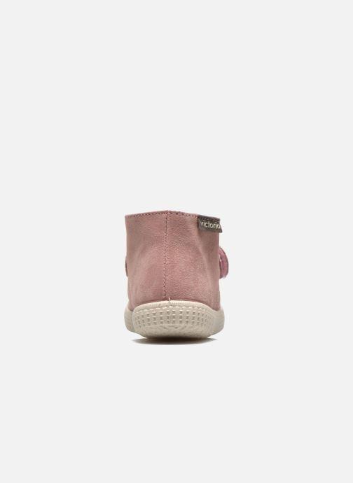 Zapatos con velcro Victoria Safari Serraje Velcro Rosa vista lateral derecha