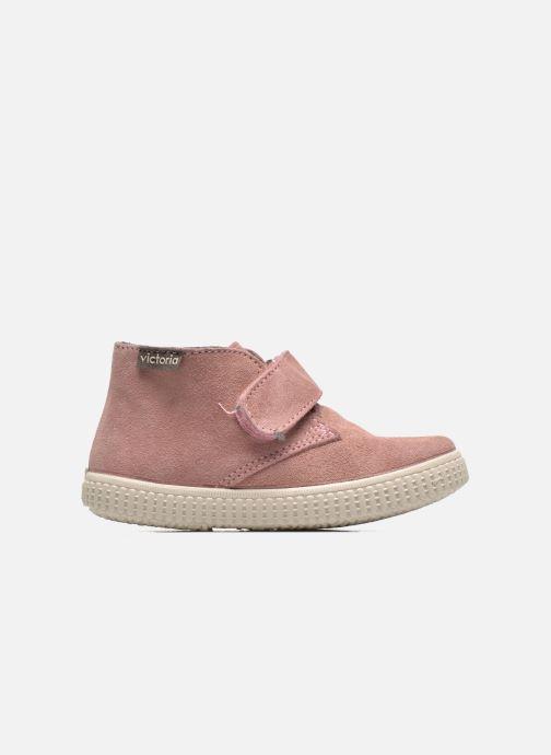 Schoenen met klitteband Victoria Safari Serraje Velcro Roze achterkant