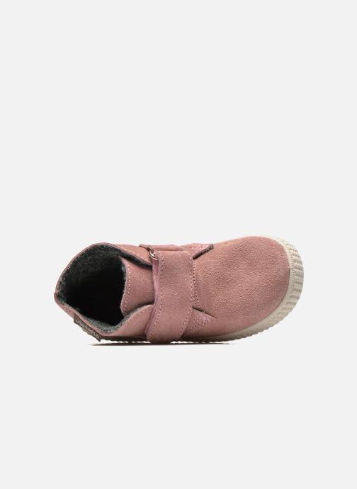 Zapatos con velcro Victoria Safari Serraje Velcro Rosa vista lateral izquierda