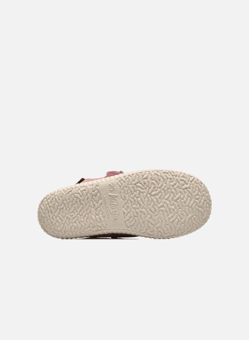 Zapatos con velcro Victoria Safari Serraje Velcro Rosa vista de arriba