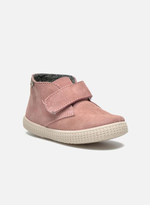 Velcro shoes Victoria Safari Serraje Velcro Pink detailed view/ Pair view