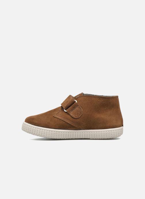 Chaussures à scratch Victoria Safari Serraje Velcro Marron vue face