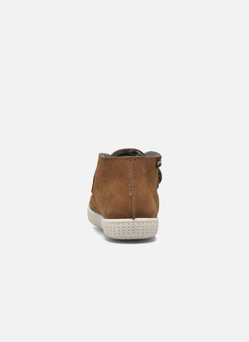 Chaussures à scratch Victoria Safari Serraje Velcro Marron vue droite
