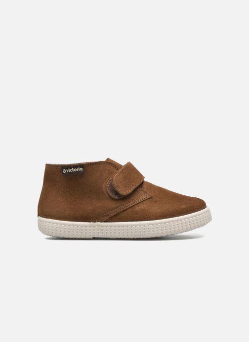 Schoenen met klitteband Victoria Safari Serraje Velcro Bruin achterkant