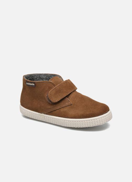 Schoenen met klitteband Victoria Safari Serraje Velcro Bruin detail