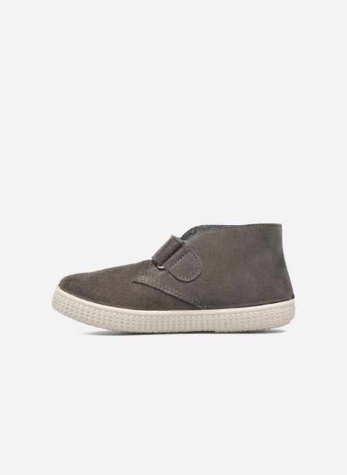 Zapatos con velcro Victoria Safari Serraje Velcro Gris vista de frente
