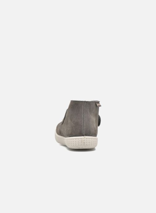 Zapatos con velcro Victoria Safari Serraje Velcro Gris vista lateral derecha