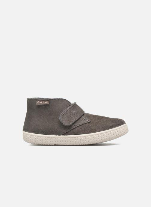 Zapatos con velcro Victoria Safari Serraje Velcro Gris vistra trasera