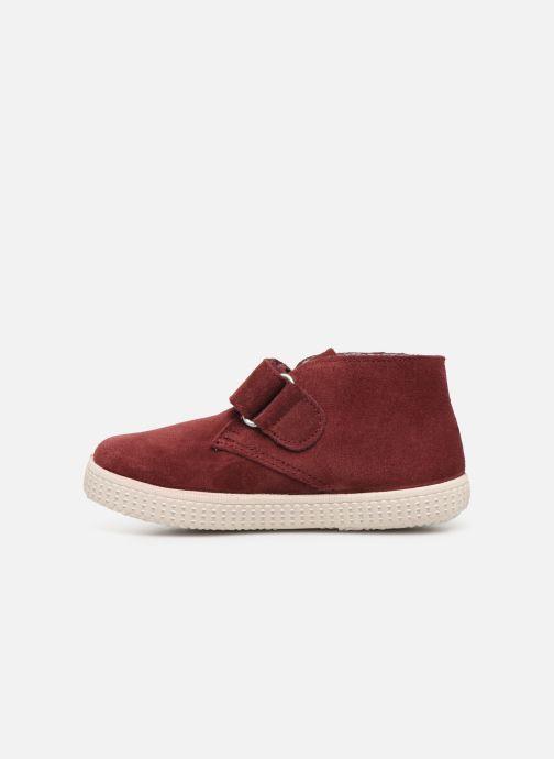 Schoenen met klitteband Victoria Safari Serraje Velcro Rood voorkant