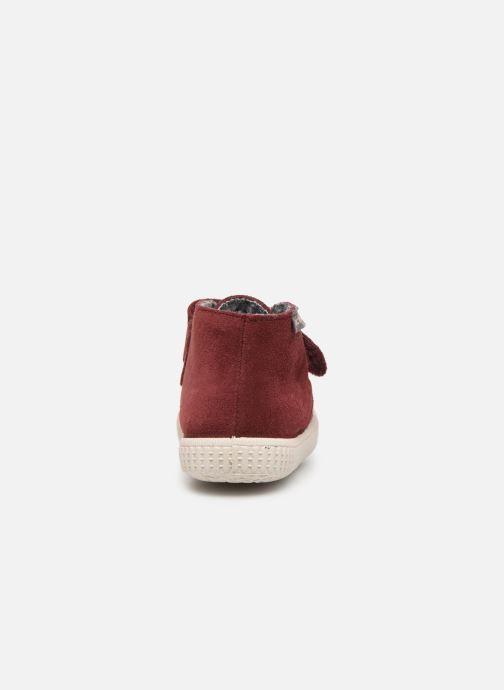 Scarpe con gli strappi Victoria Safari Serraje Velcro Rosso immagine destra