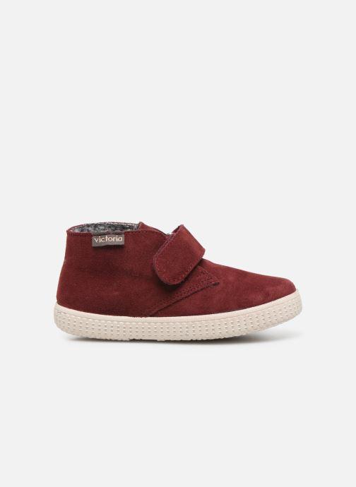 Schoenen met klitteband Victoria Safari Serraje Velcro Rood achterkant