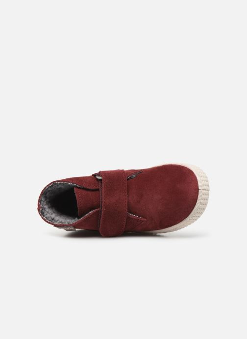 Schoenen met klitteband Victoria Safari Serraje Velcro Rood links