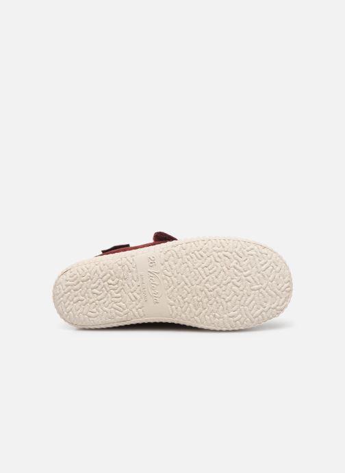 Chaussures à scratch Victoria Safari Serraje Velcro Rouge vue haut