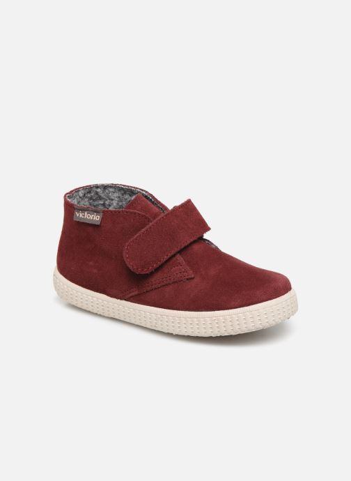 Schoenen met klitteband Victoria Safari Serraje Velcro Rood detail