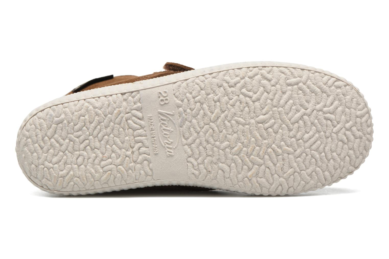 Chaussures à scratch Victoria Safari Serraje Velcro Marron vue haut