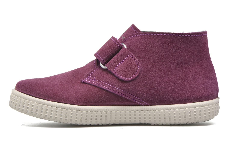 Chaussures à scratch Victoria Safari Serraje Velcro Rouge vue face