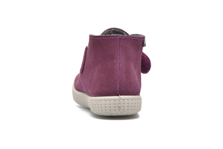 Chaussures à scratch Victoria Safari Serraje Velcro Rouge vue droite