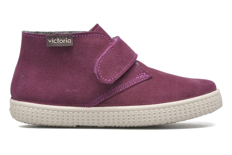 Chaussures à scratch Victoria Safari Serraje Velcro Rouge vue derrière