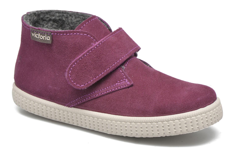 Chaussures à scratch Victoria Safari Serraje Velcro Rouge vue détail/paire