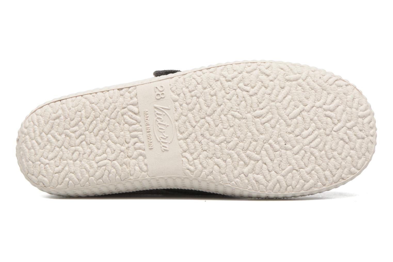Chaussures à scratch Victoria Safari Serraje Velcro Gris vue haut