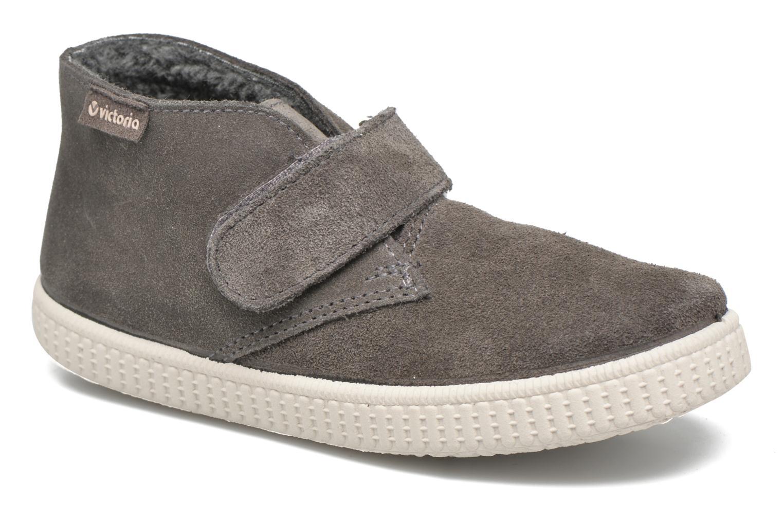 Chaussures à scratch Victoria Safari Serraje Velcro Gris vue détail/paire