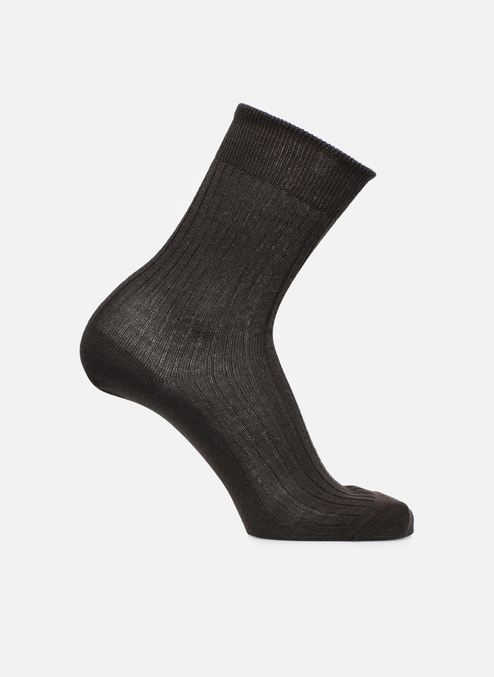Chaussettes et collants Sarenza Wear Chaussettes unies Marron vue détail/paire