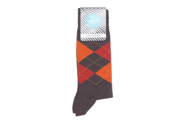 Chaussettes et collants Sarenza Wear Chaussettes Carreaux Marron vue détail/paire