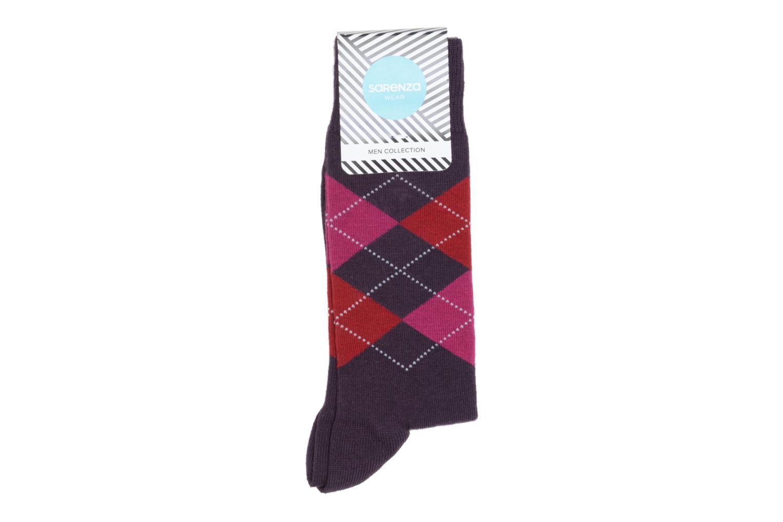 Chaussettes et collants Sarenza Wear Chaussettes Carreaux Violet vue détail  paire 51337753e646