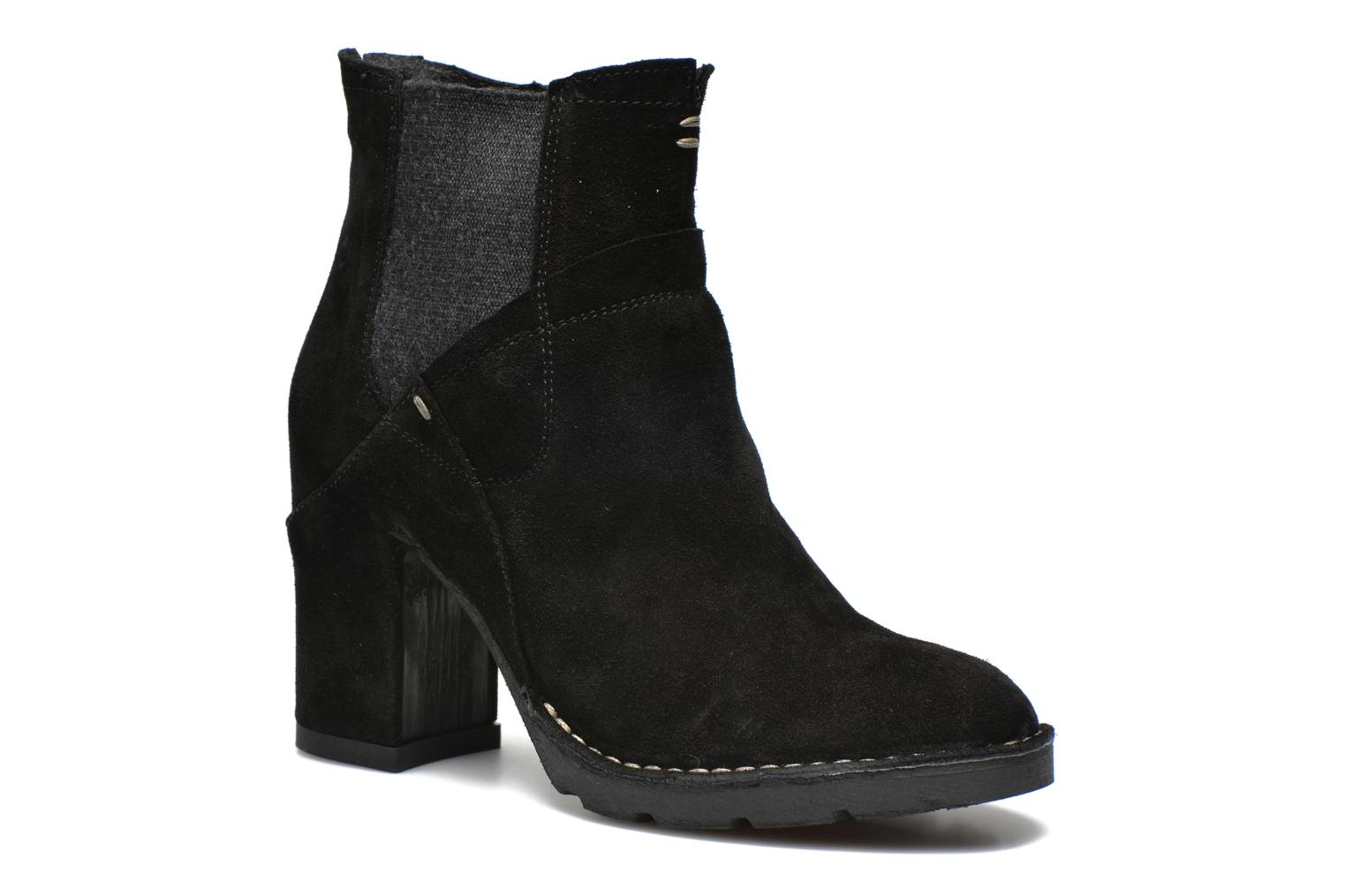 Ankle boots Khrio Amam Black detailed view/ Pair view