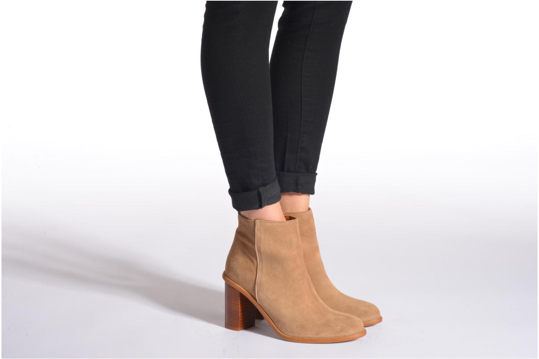 Bottines et boots Made by SARENZA Western Fever #5 Marron vue bas / vue portée sac
