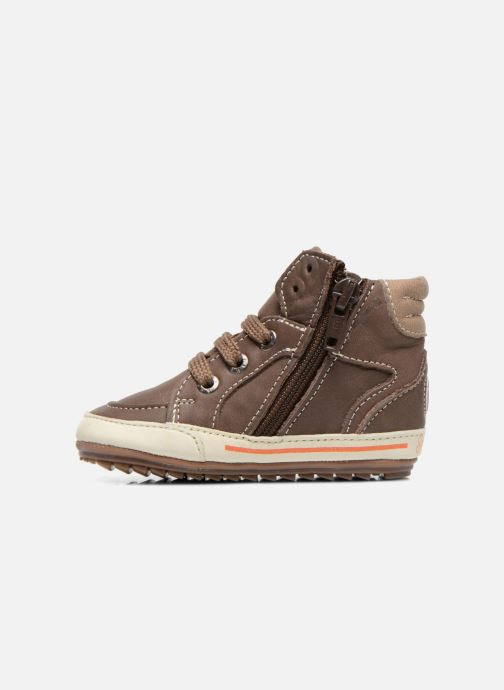 Sneakers Shoesme Spencer Marrone immagine frontale