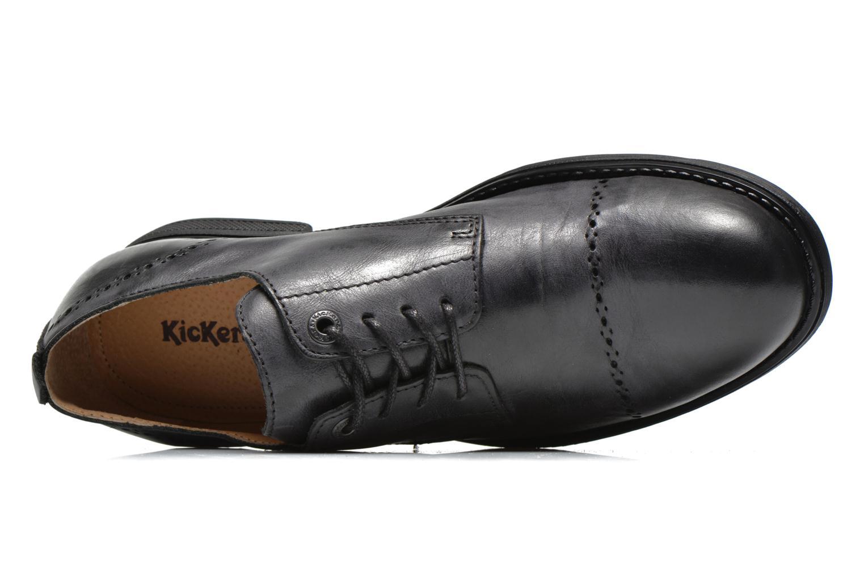 Zapatos con cordones Kickers MARLO Negro vista lateral izquierda