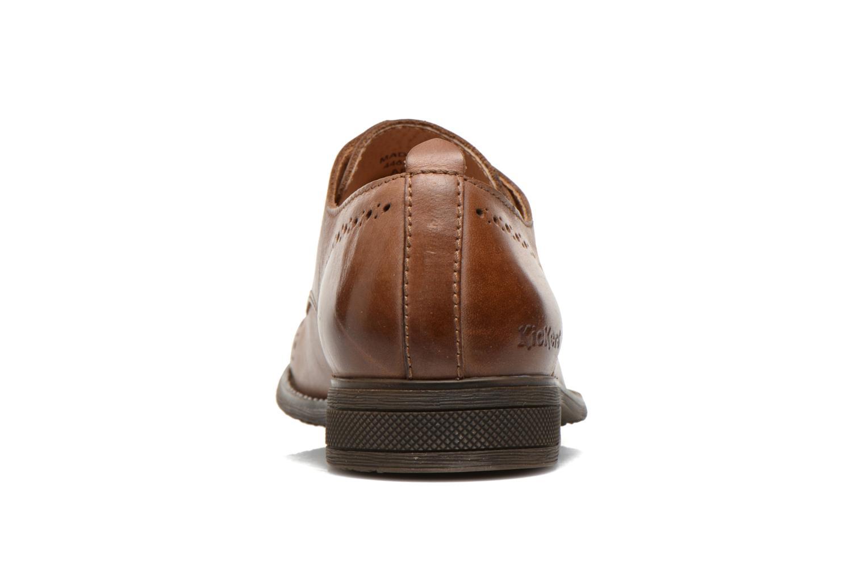 Snörade skor Kickers MARLO Brun Bild från höger sidan