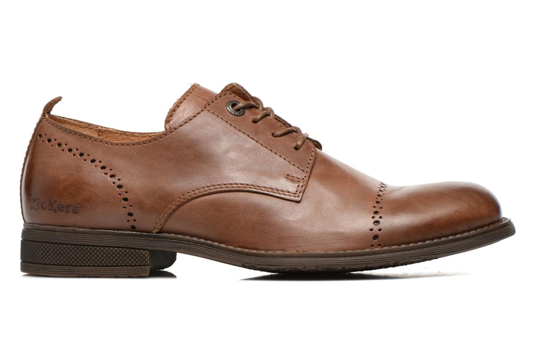 Snörade skor Kickers MARLO Brun bild från baksidan