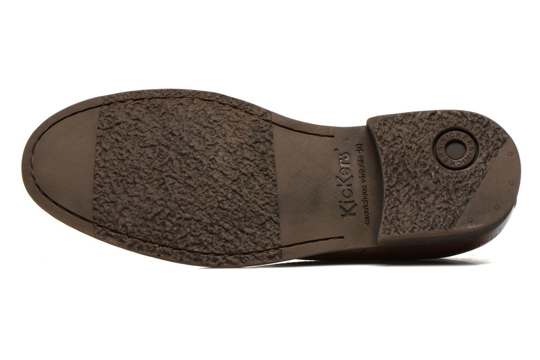 Snörade skor Kickers MARLO Brun bild från ovan