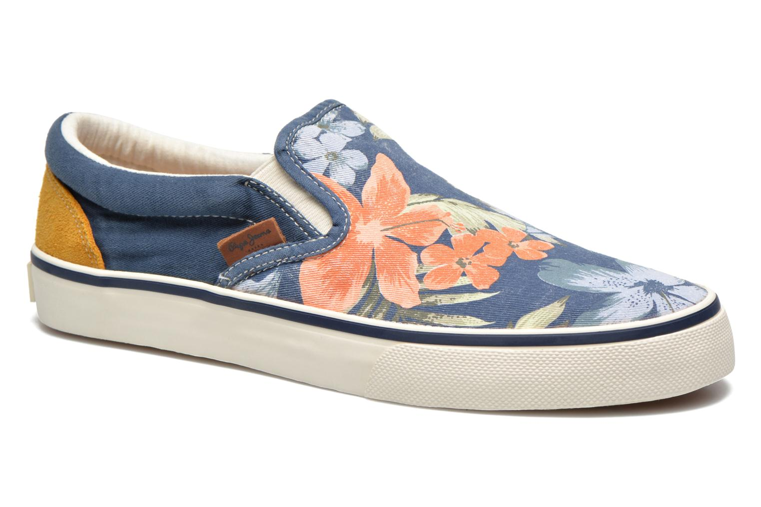 Baskets Pepe jeans Harry Slip On Bleu vue détail/paire