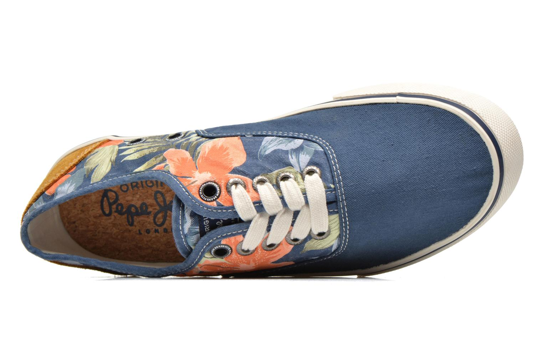 Baskets Pepe jeans Harry Laces Bleu vue gauche